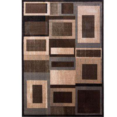 Bazaar Gal 1196 Black/Brown 7 ft. 10 in. x 10 ft. 1 in. Indoor Area Rug