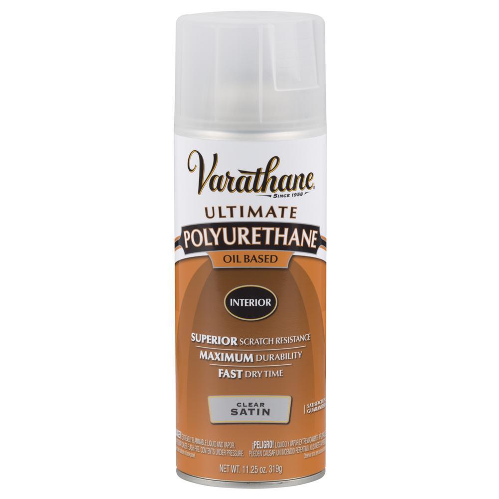 11 oz. Clear Satin Oil-Based Interior Polyurethane Spray (6-Pack)