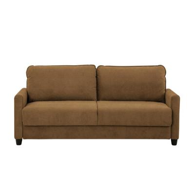 Shelby Microfiber Sofa with Storage in Taupe