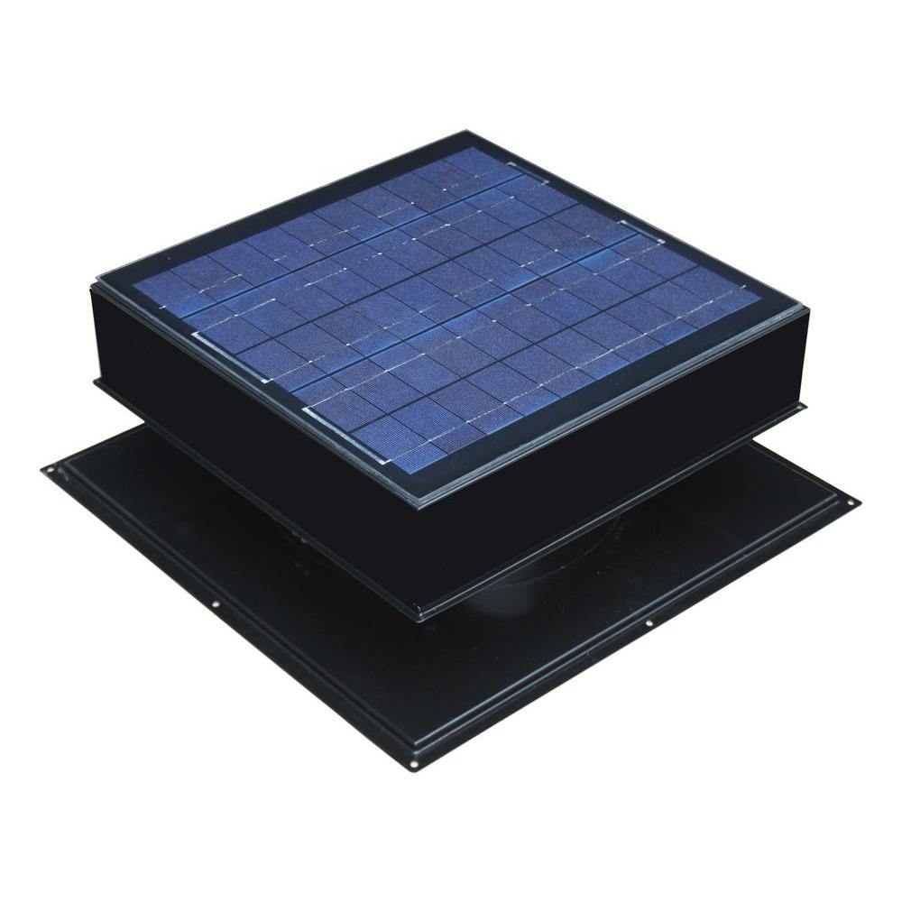 20-Watt 1280 CFM Black Solar Powered Attic Fan  sc 1 st  Home Depot & Solar Attic Fan - Attic Fans u0026 Vents - The Home Depot