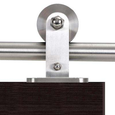 79 in. Stainless Steel Modern European Style Sliding Door Track and Hardware Set
