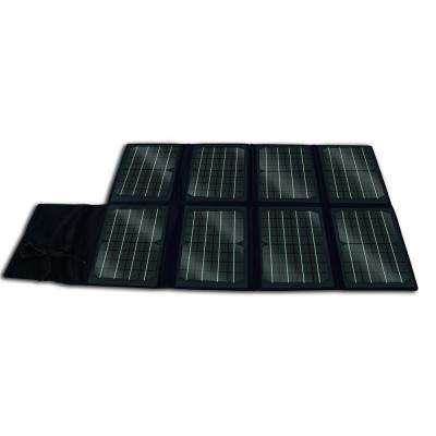 80-Watt Folding Monocrystalline Solar Panel for 12-Volt Charging