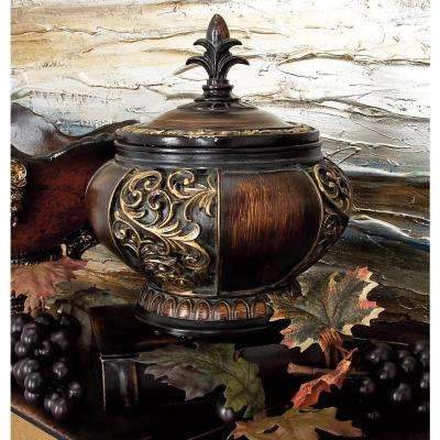 9 in. x 10 in. Ceramic Round Ornamental Box