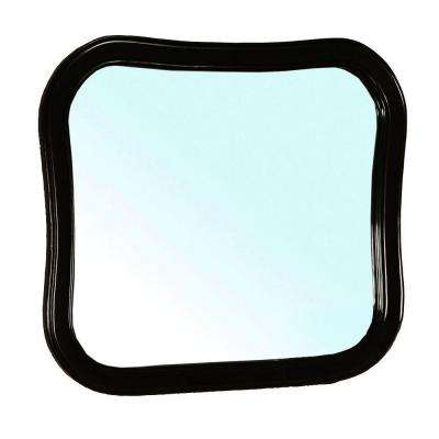 Swindon 35 in. W x 31 in. L Framed Wall Mirror in Black