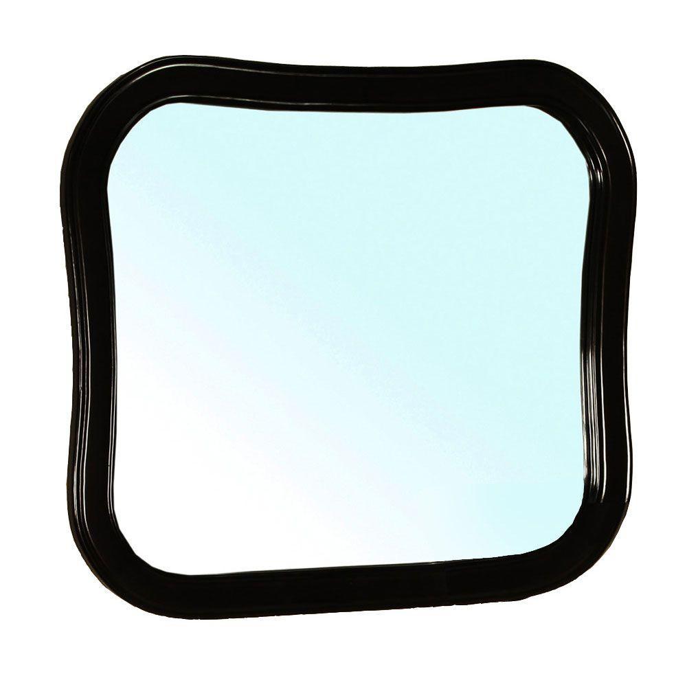 Swindon 35 in. W x 31 in. L Framed Wall Mirror