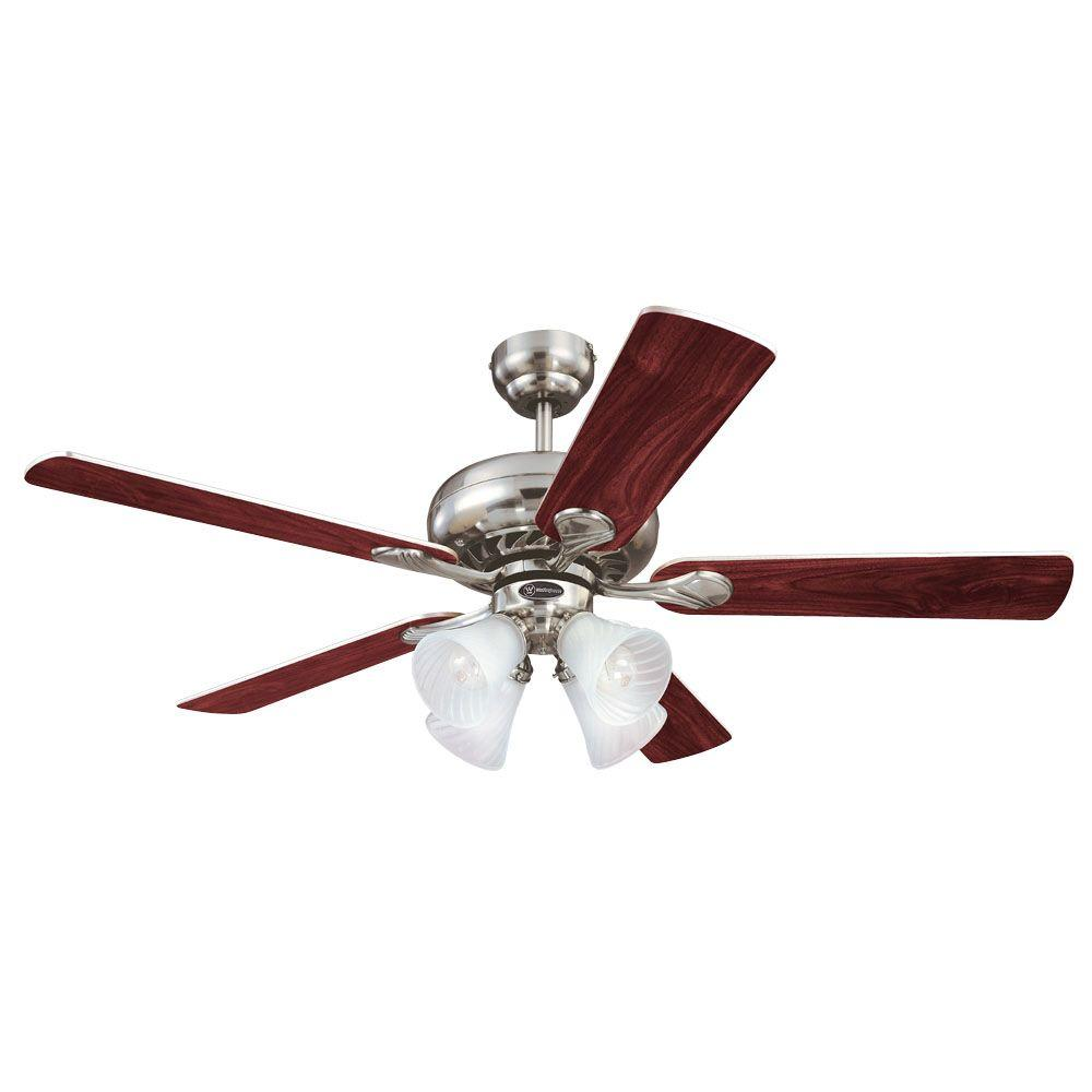 Brushed Nickel Indoor Ceiling Fan