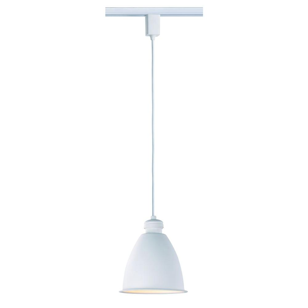 Commercial Electric 1 Light Halogen Linear Track Direct Wire Warehouse Style Pendant
