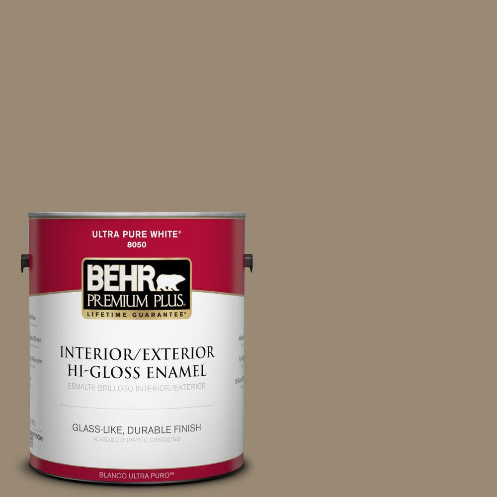 1-gal. #N310-5 Weathered Fossil Hi-Gloss Enamel Interior/Exterior Paint