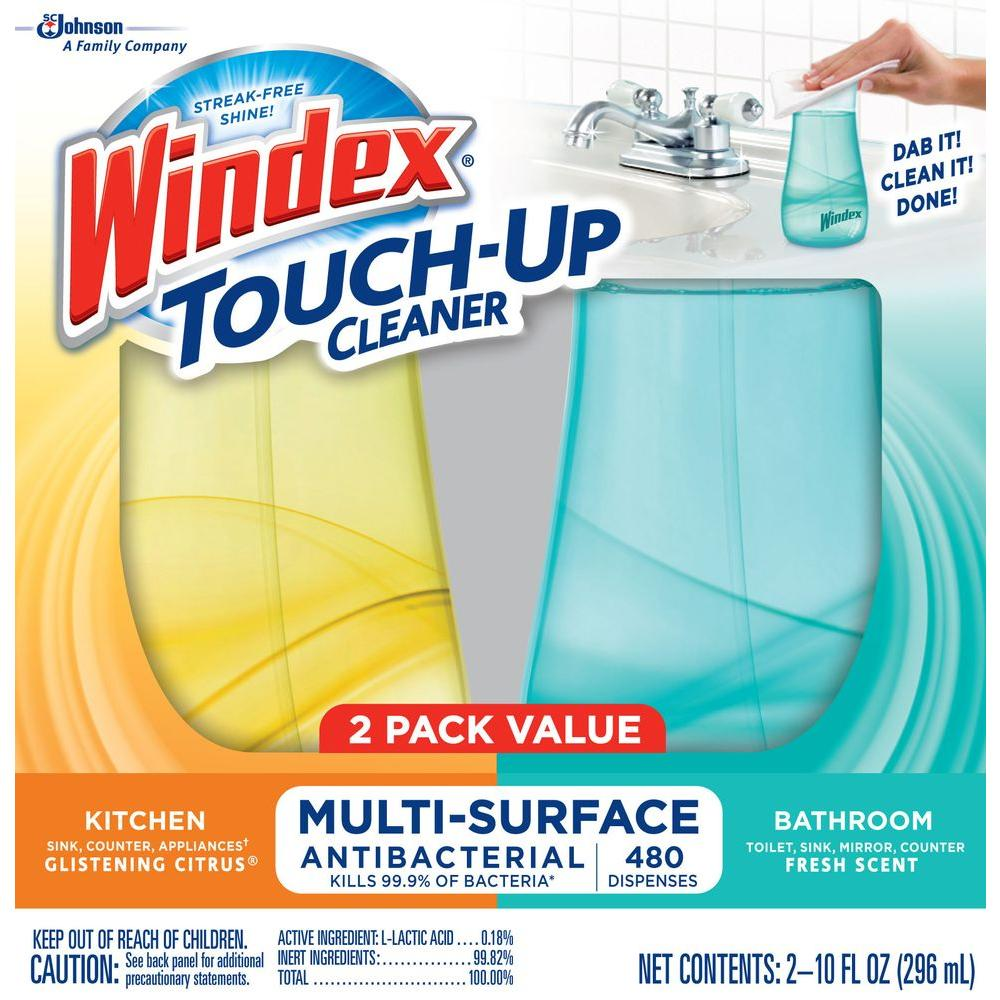 Windex 10 oz. Citrus and Fresh Scent Touch-Up (2-Pack)
