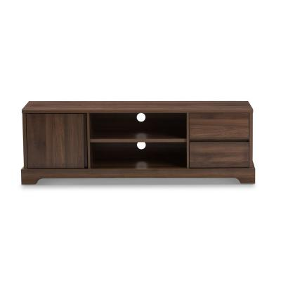 Burnwood Brown 2-Drawer TV Stand