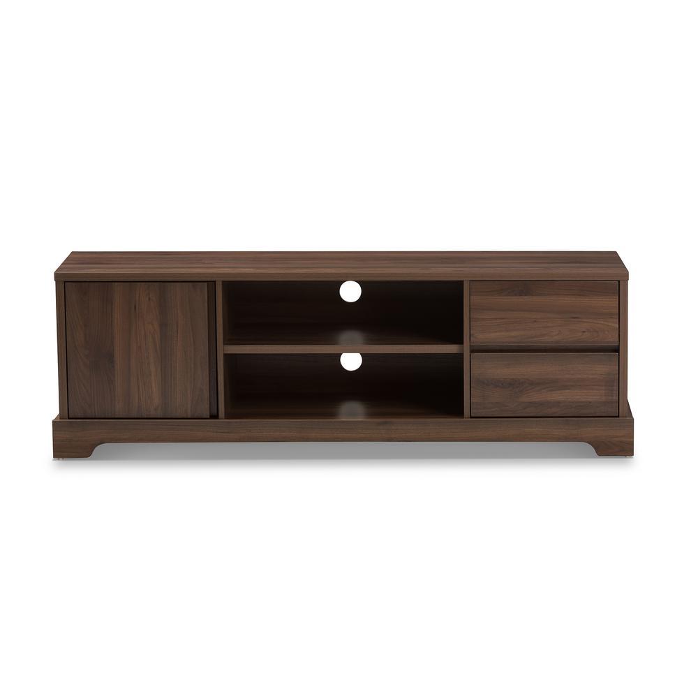 Burnwood Brown 2-Drawer TV Stand