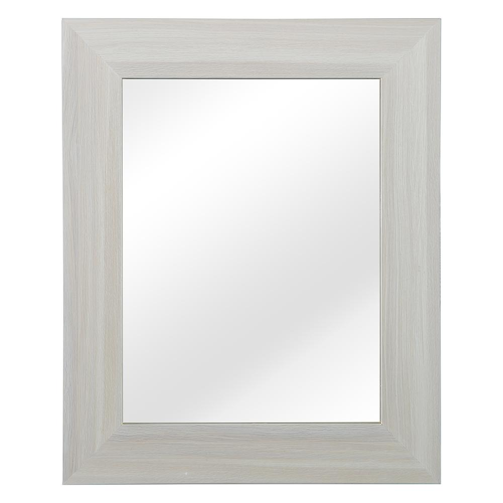 Home Decorators Collection Vanetta 26 in. W x 32 in. H Single Framed Wall Mirror in Weathered Oak