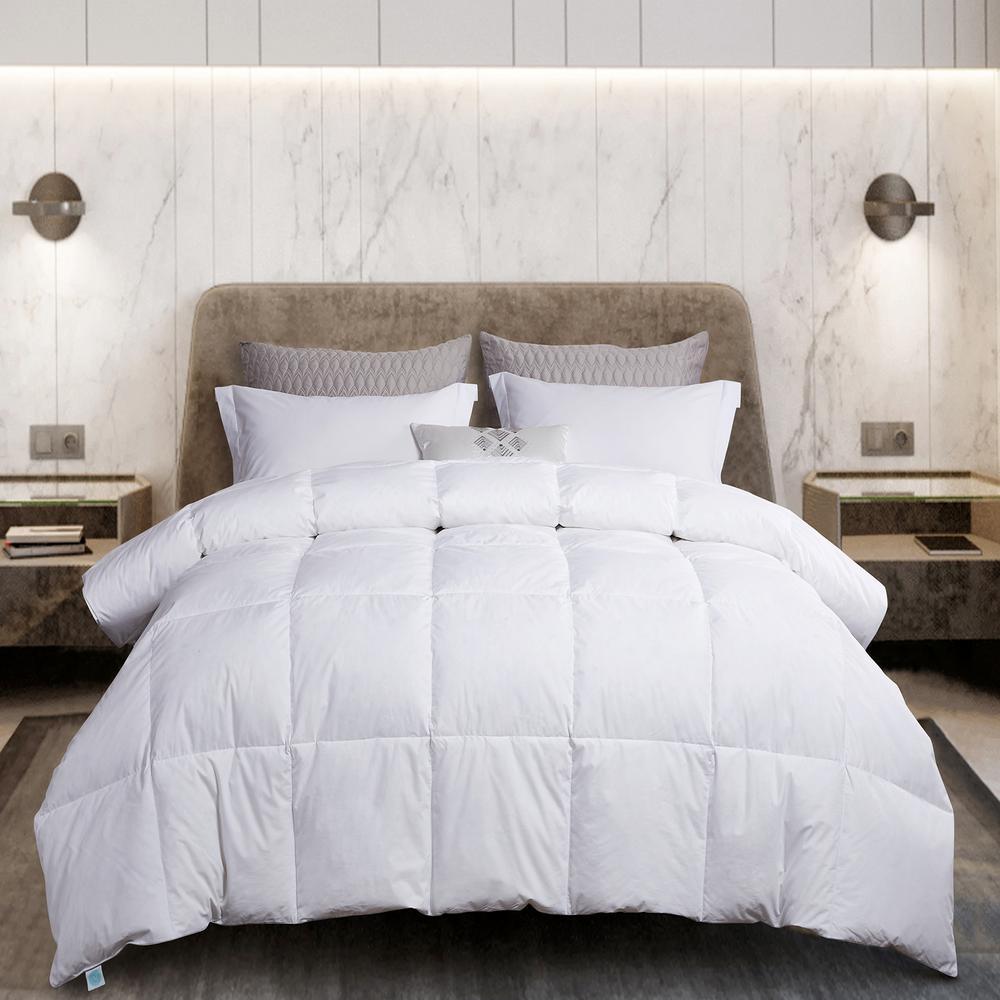240TC Year Round Warmth White King Size White Goose Feather And White Goose Down Comforter