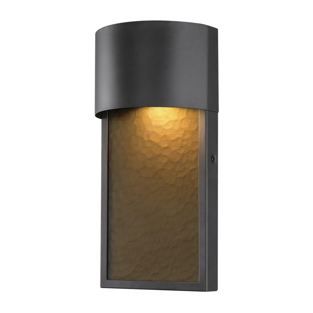 Led Outdoor Wall Lights Home Depot: Globe Electric Sutherland 1-Light Bronze Outdoor