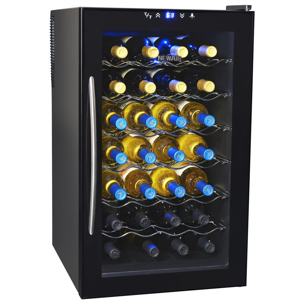 NewAir 28-Bottle Thermoelectric Wine Cooler, Black