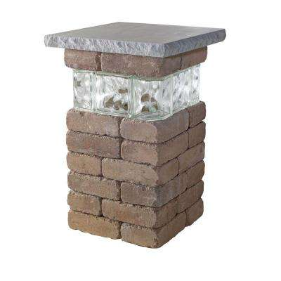 20 in. Desert Lakeland Pillar with Glass
