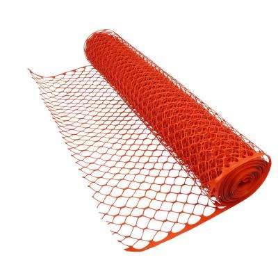 4 ft. x 50 ft. Orange Construction Diamond Grid Snow/Safety Barrier Fence