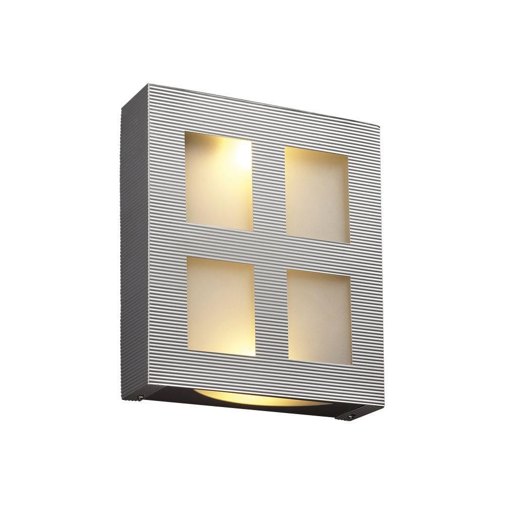 Contemporary Beauty 2-Light Aluminum Incandescent Sconce