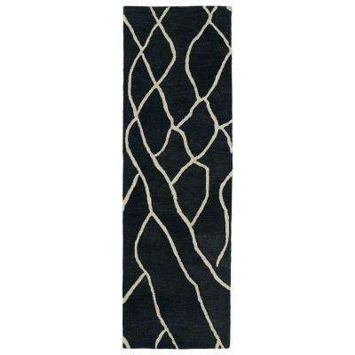 Casablanca Charcoal 3 ft. x 10 ft. Runner Rug