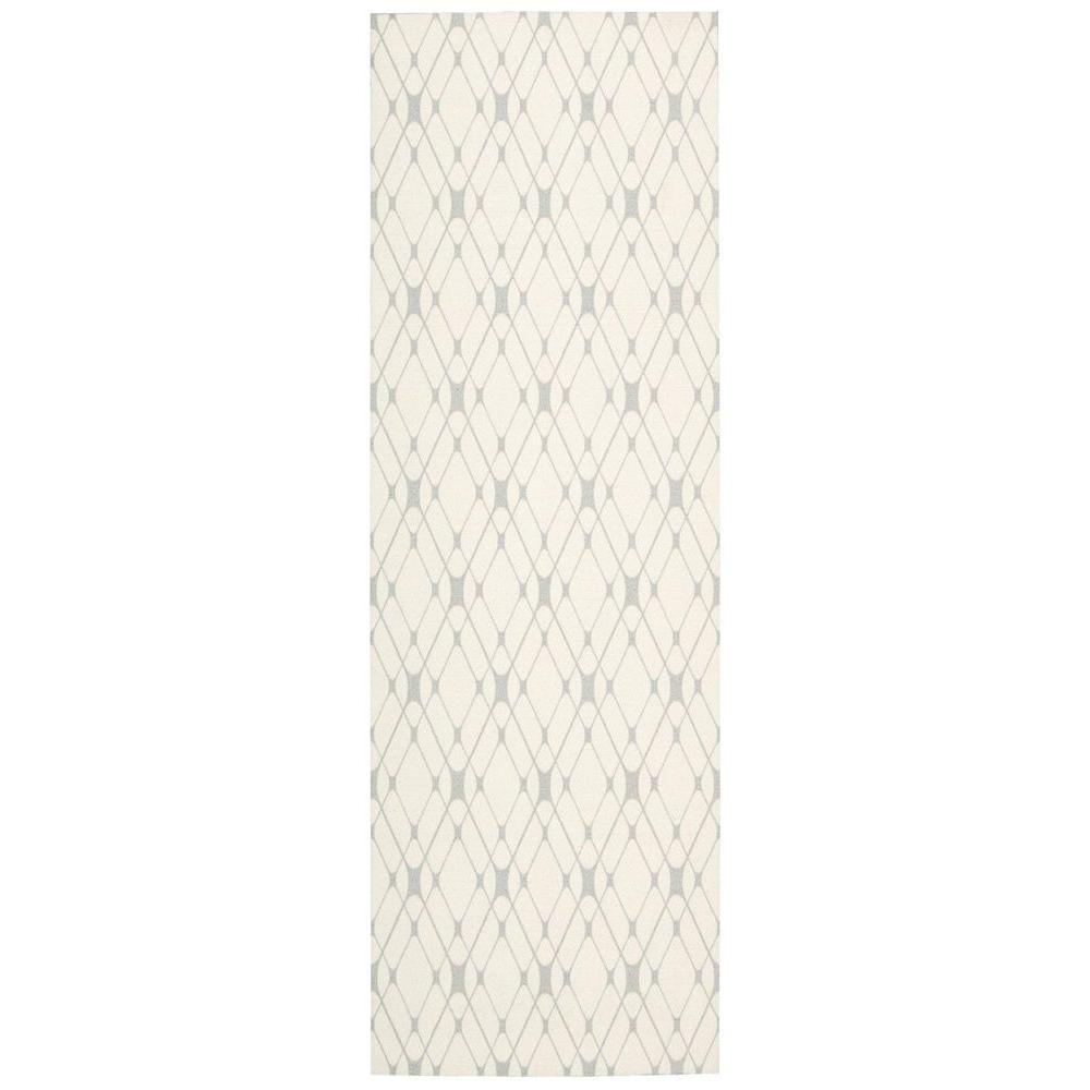 Nourison Enhance Ivory Grey 2 ft. 6 in. x 8 ft. Rug Runner