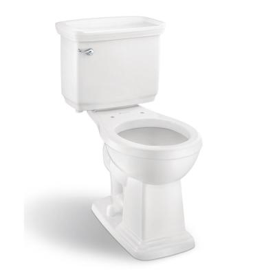 Designer 2-Piece 1.28 GPF Single Flush Round Front Toilet in White, Seat Not Included