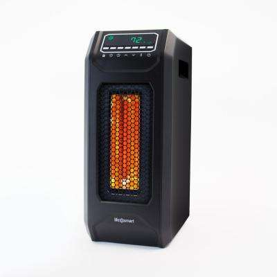 18 in. 5300 BTU Medium Room Infrared Tower Heater with Remote and Multi-Function Electronics