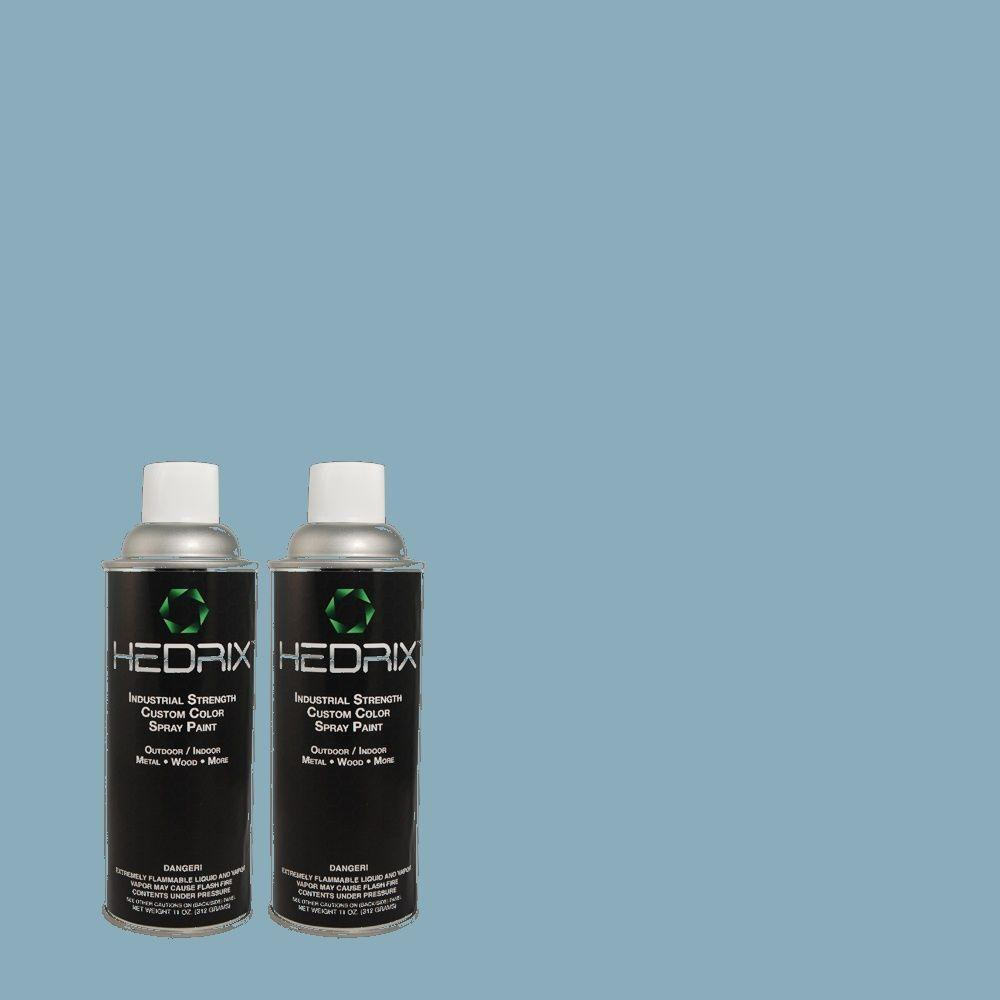 Hedrix 11 oz. Match of 2A45-4 Opera Blue Low Lustre Custom Spray Paint (2-Pack)
