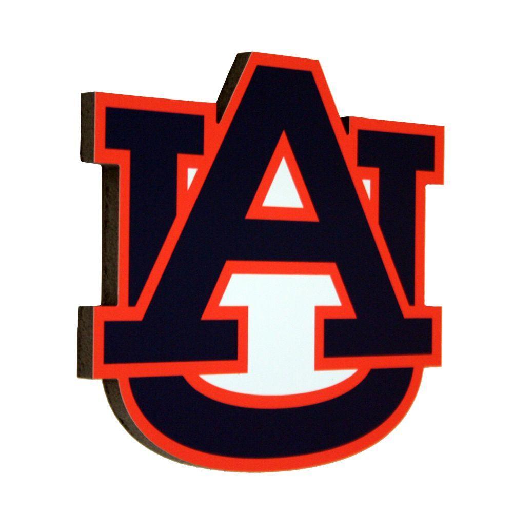 StukUps! 13 in. x 11.5 in. Auburn University 3D Decorative Team Logo Sign