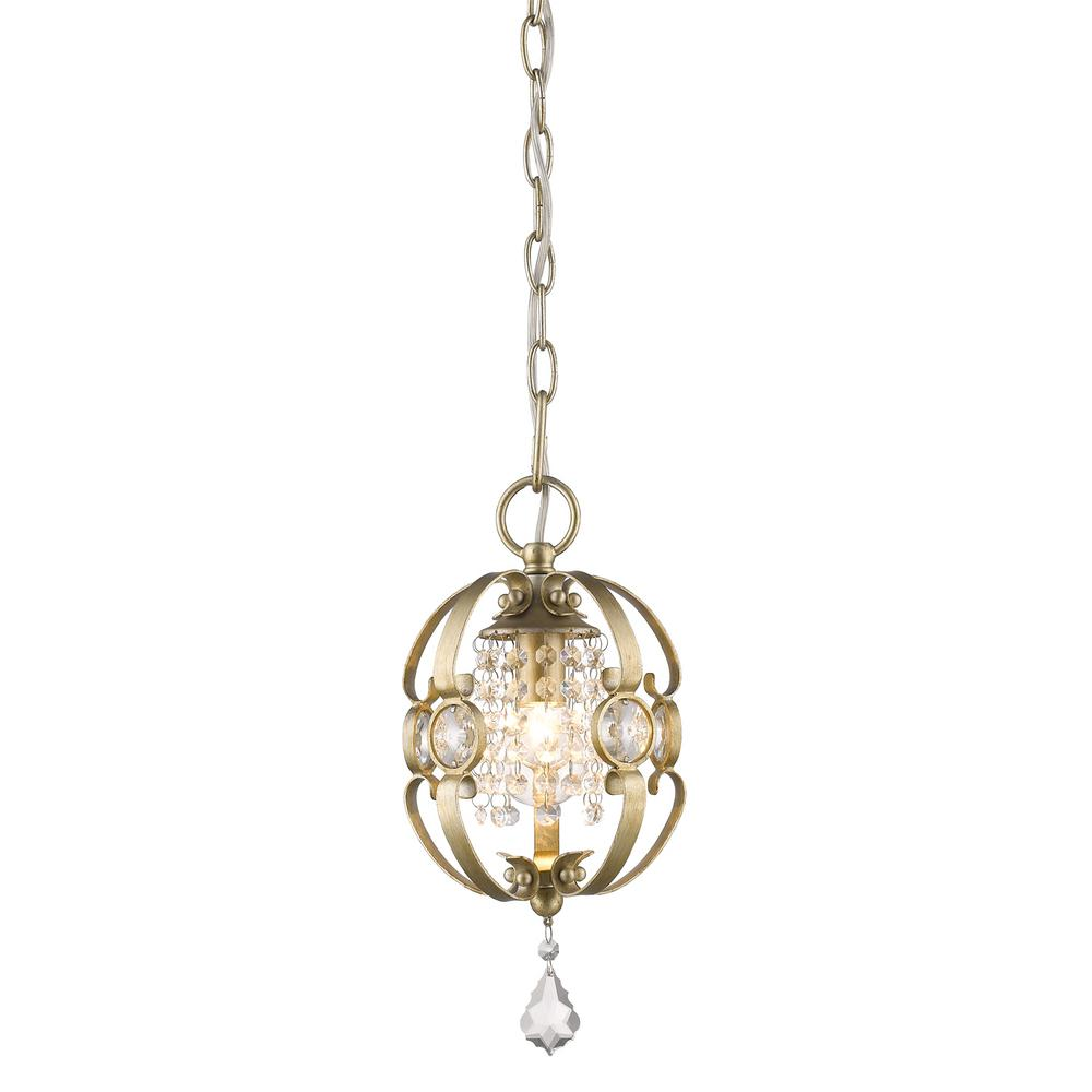 Golden Lighting Ella 1 Light White Gold Pendant 1323 M1L WG   The Home Depot