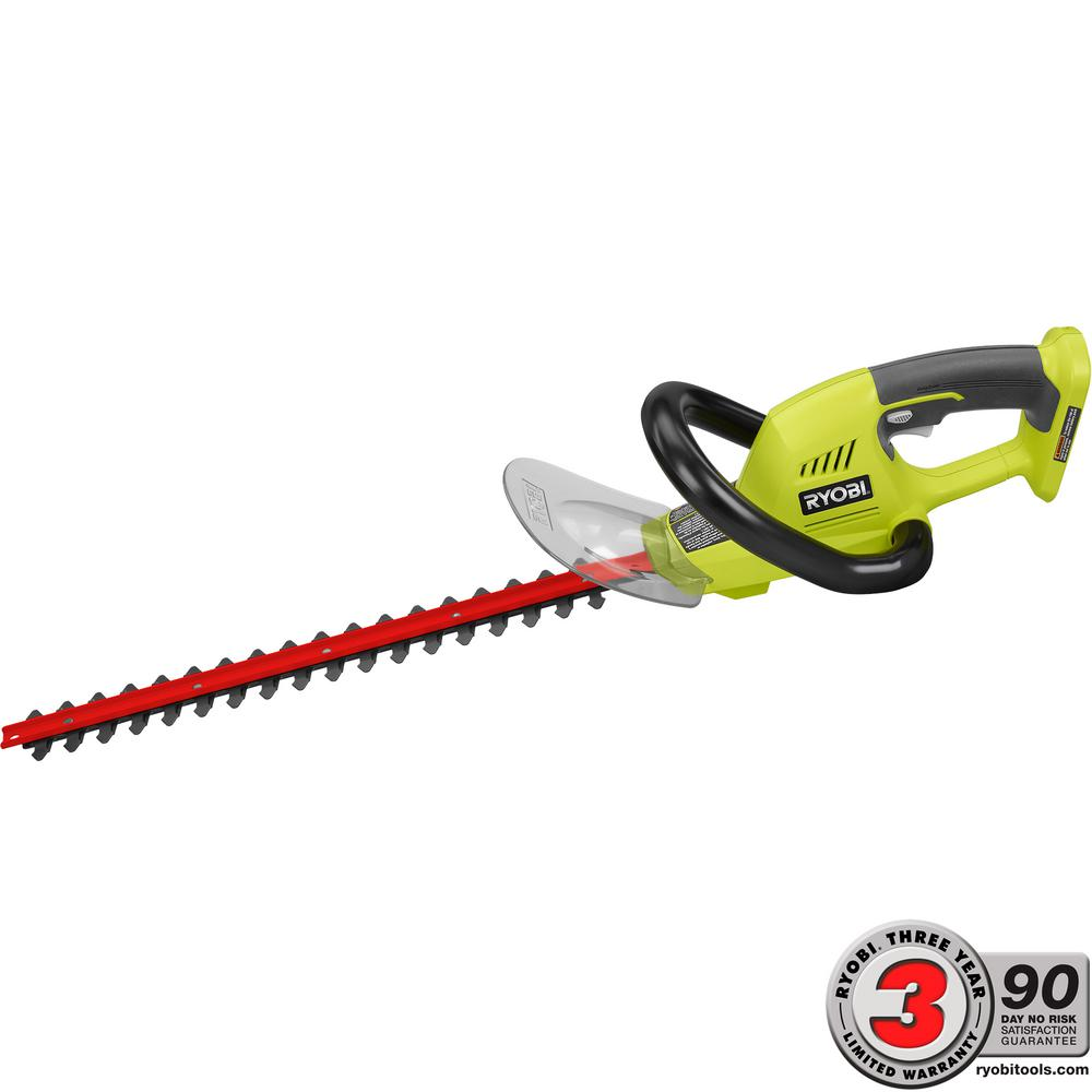 Ryobi one 18 in 18 volt lithium ion cordless hedge trimmer 18 volt lithium ion cordless hedge trimmer battery and charger not included p2605 the home depot greentooth Images