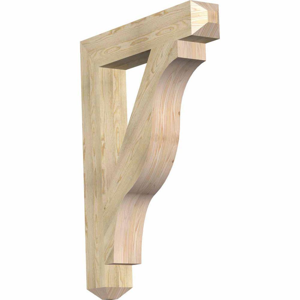 Ekena millwork 6 in x 48 in x 36 in douglas fir funston craftsman rough sawn bracket for Fenetre 36 x 48