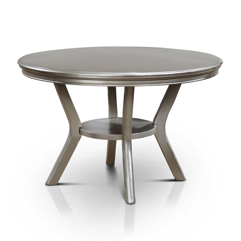 Champagne Dining Room Furniture: Furniture Of America Farben Champagne Round Dining Table