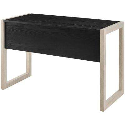 Become Natural Black Wood Writing Desk