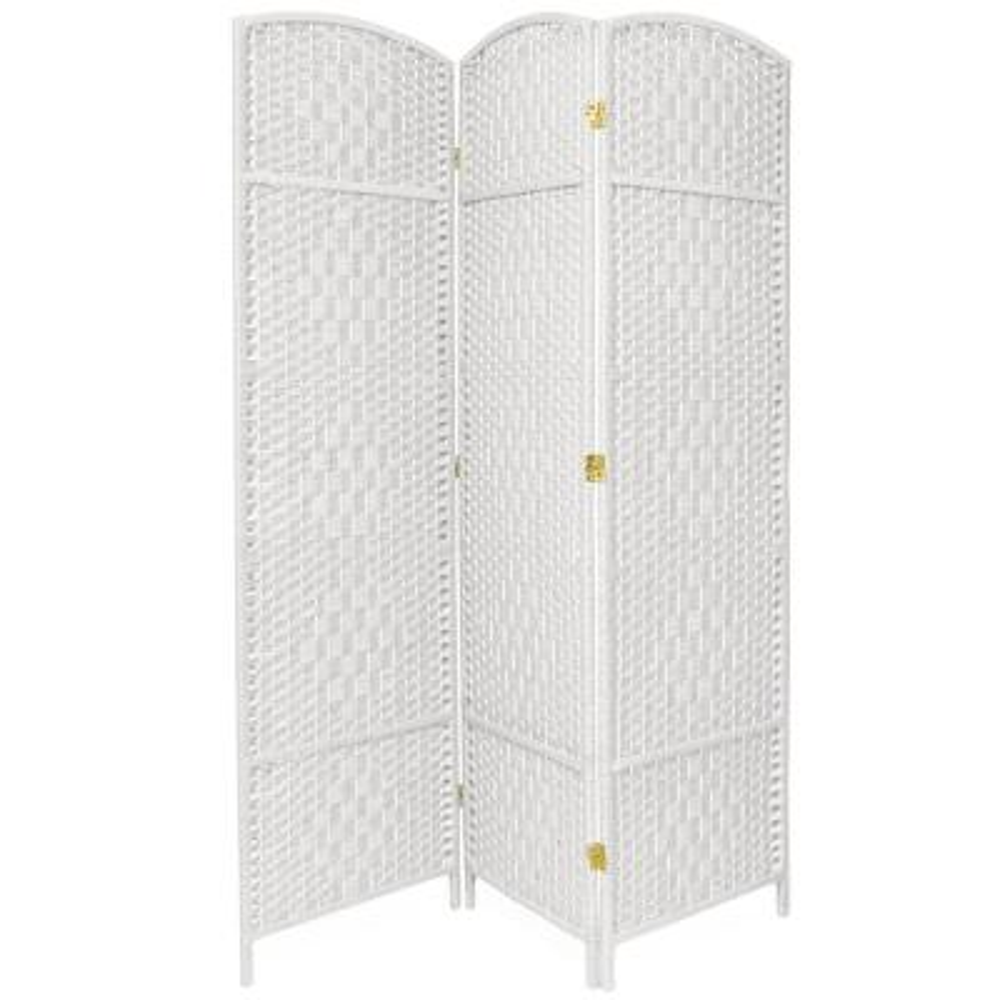 7 ft. White 3-Panel Room Divider