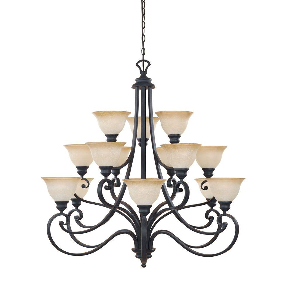 Designers fountain monte carlo 15 light hanging natural iron designers fountain monte carlo 15 light hanging natural iron chandelier 961815 ni the home depot arubaitofo Image collections