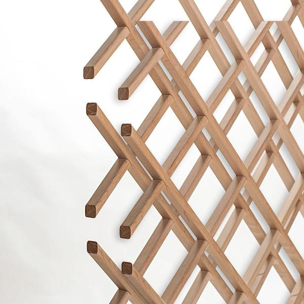 18-Bottle Trimmable Wine Rack Lattice Panel Inserts in Unfinished Solid North American Alder
