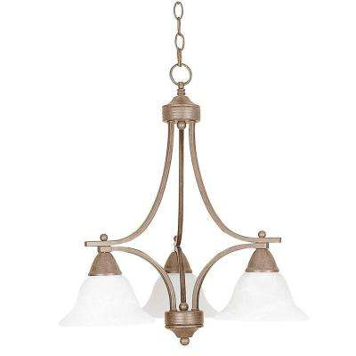 Martindell 3-Light Painted Pewter Chandelier