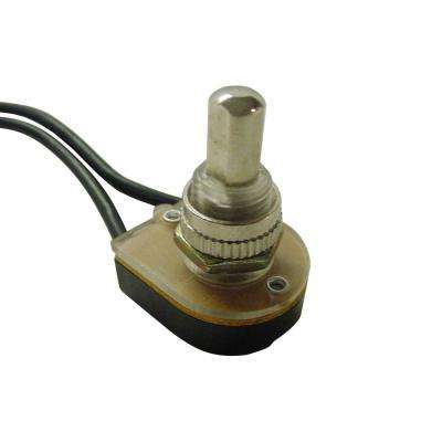 Nickel Push Button Switch SPST O/F 6 Amp 125-Volt Wired (Case of 10)