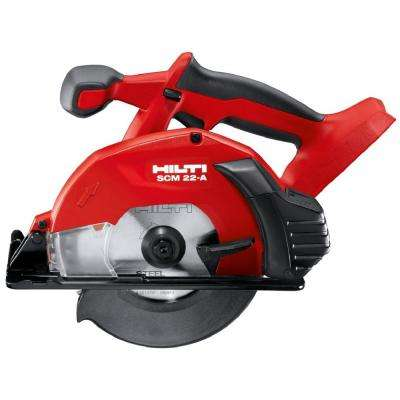 22-Volt Lithium-Ion Cordless Metal Cutting Circular Saw SCM 22 Tool Body