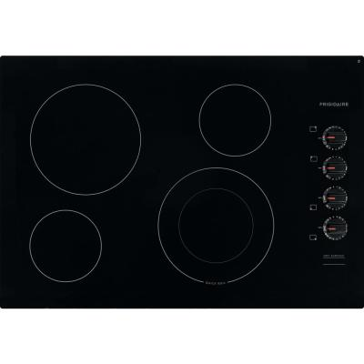 30 in. Radiant Electric Cooktop in Black with 4 Elements including Quick Boil Element