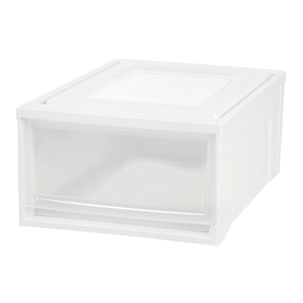 White Medium Box Chest Drawer (3-Pack  sc 1 st  Home Depot & Plastic - Drawer Storage - Storage u0026 Organization - The Home Depot