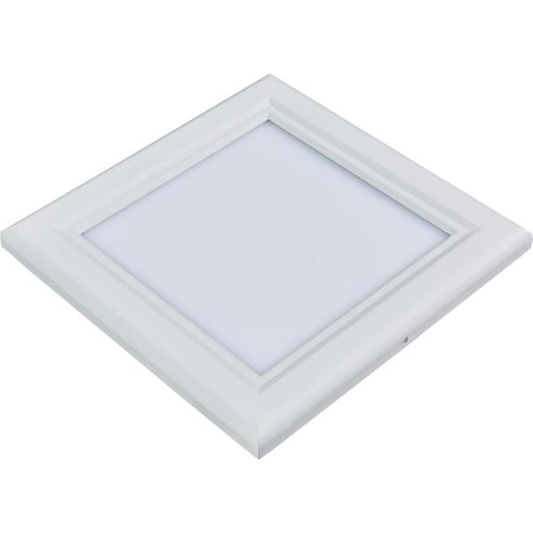 1 ft. x 1 ft. 15-Watt White Dimmable Edge-Lit 4000K Flat Panel Integrated LED Flushmount Wraparound