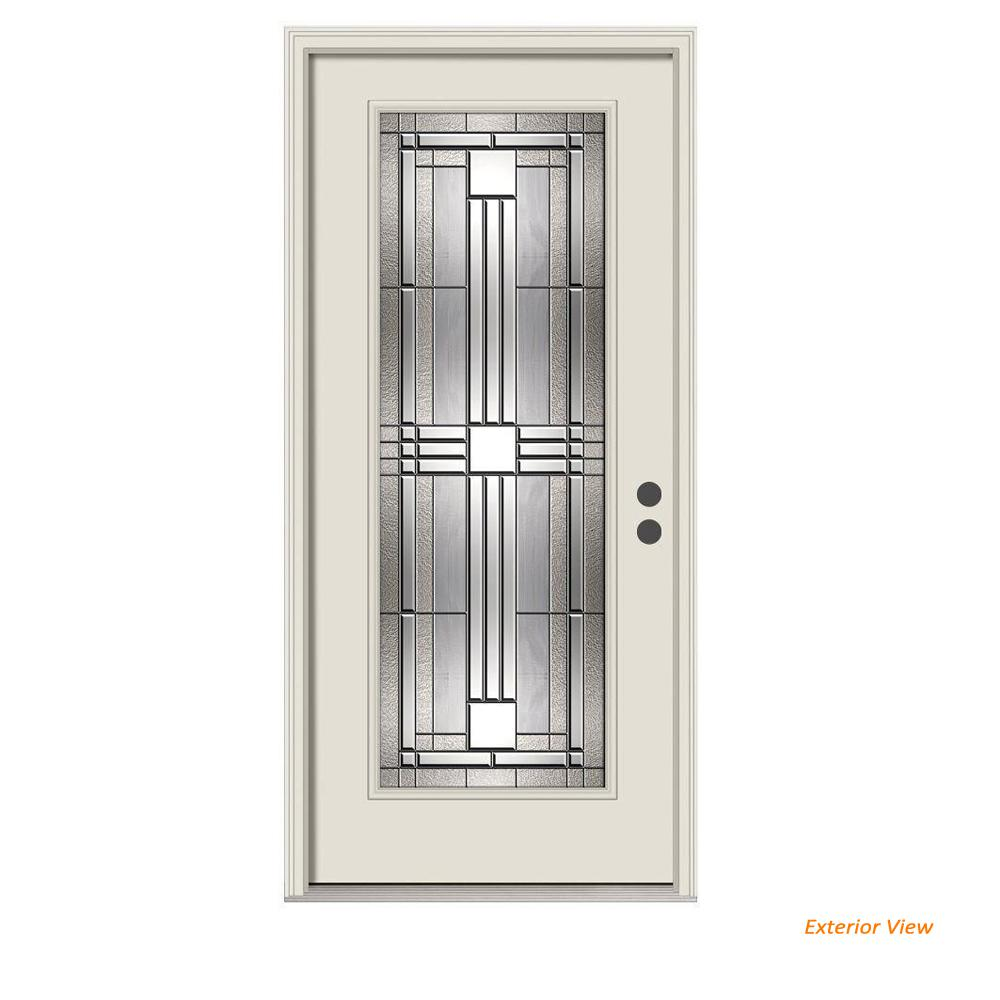 Jeld Wen 36 In X 80 In Full Lite Cordova Primed Steel Prehung Left