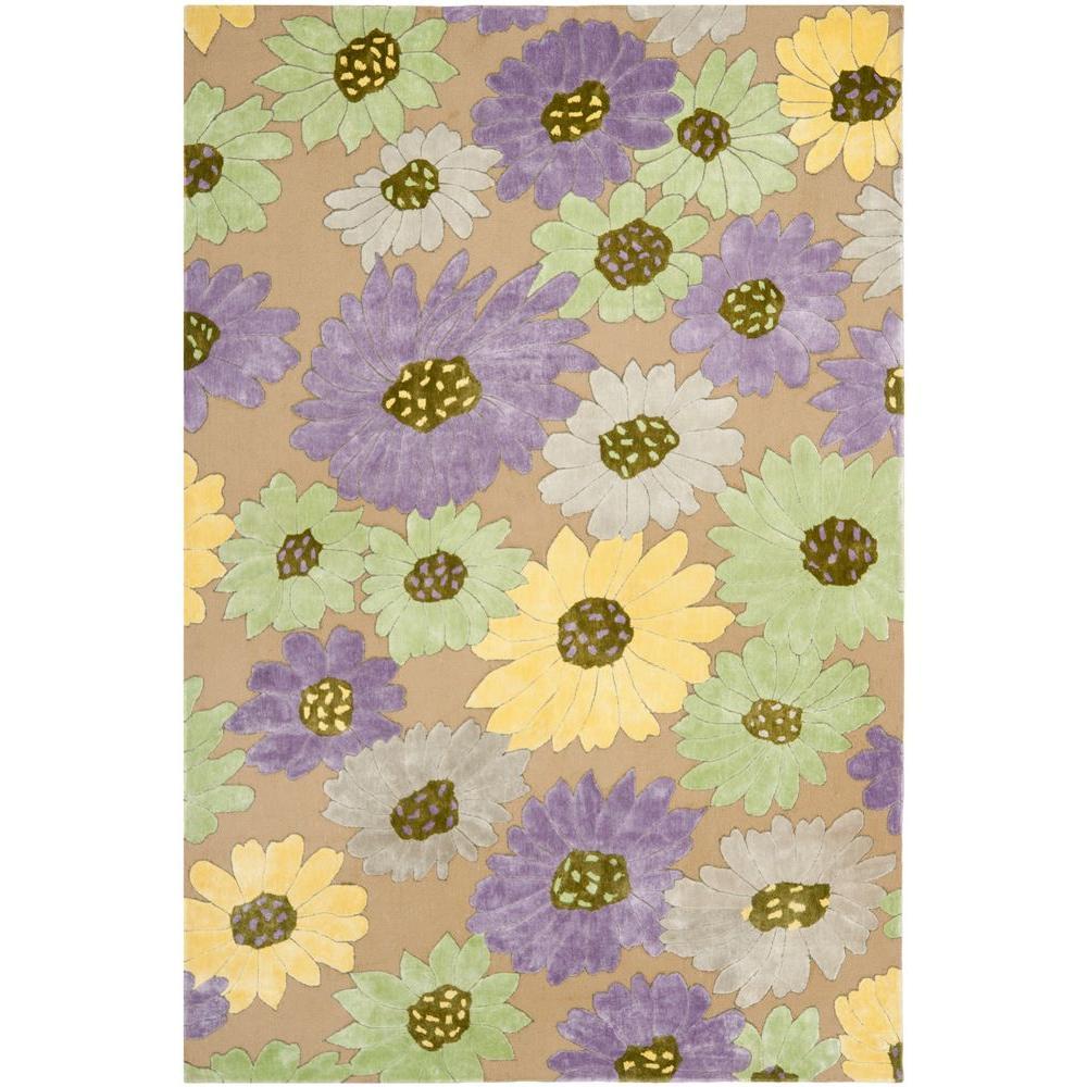 Safavieh Wilton Taupe/Lilac 8 ft. x 10 ft. Area Rug