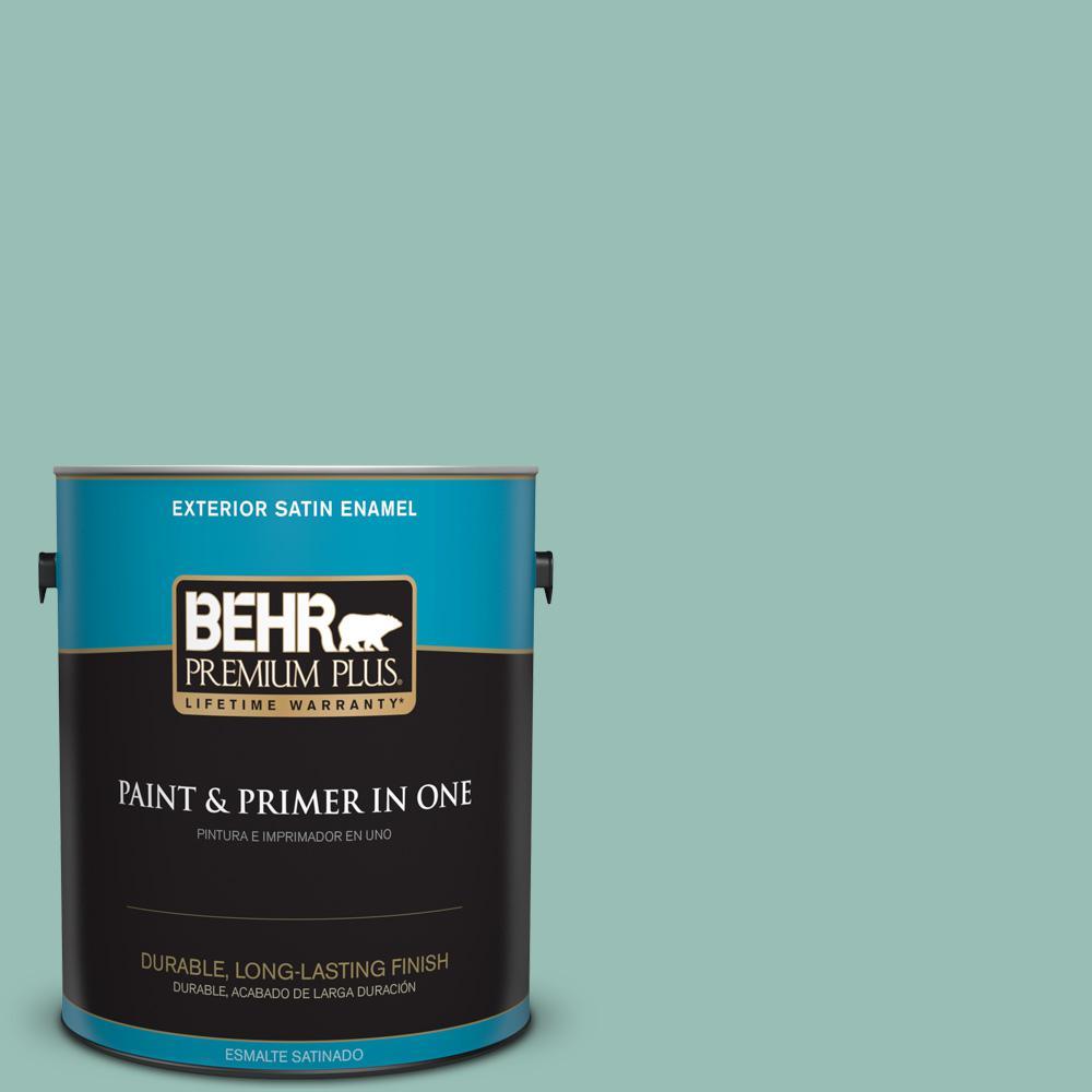 1 gal. #PPU12-07 Spring Stream Satin Enamel Exterior Paint
