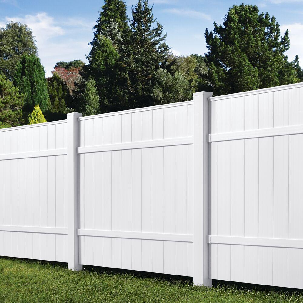 Veranda 6 Ft H X W White Vinyl Windham Fence Panel 73014216