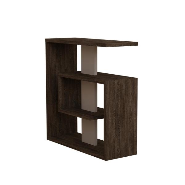 Ada Home Decor Stacy Dark Brown and Light Mocha Modern Side Table