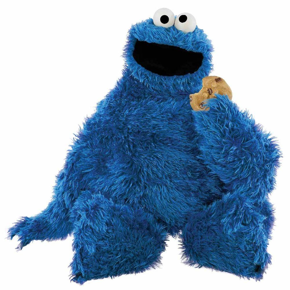 RoomMates 5 in. x 19 in. Sesame Street Cookie Monster Peel and Stick Giant Wall Decal (12-Piece)