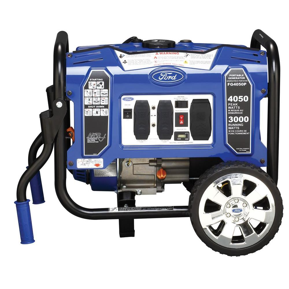 4,050/3,000-Watt Gasoline Powered Recoil Start Portable Generator with 208 cc