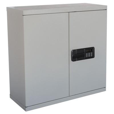 30 in. H x 30 in. W x 12 in. D Steel Wall Mounted Cabinet Storage in Dove Gray